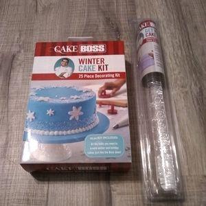 Cake Boss Winter Cake kit w/ rolling pin set